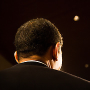 On the eve of a Congressional election that would determine the balance of power in the U.S. Senate, Illinois Sen. Barack Obama rallied support for Claire McCaskill, a Democrat attempting to unseat Sen. Jim Talent, R-Mo., in St. Louis, Mo. on Nov. 5, 2006. Following an electrifying 2004 Democratic National Convention speech and a subsequent best-selling autobiography, Obama's popularity surged, and he was considered a front-runner for the Democratic nomination for the U.S. Presidency in 2008. His wide appeal was seen as crucial to Democratic efforts to retake the House and Senate, and he stumped for fellow Democrats at similar campaign events around the country.