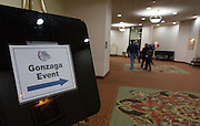 Fans cheer on the Zags and celebrate Gonzaga Day at the Double Tree Hotel in Spokane, Washington January 31st, 2015. (Photo by Eli Francovich)