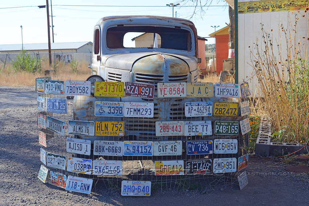 Old car in the famous Route 66 in Arizona, USA.