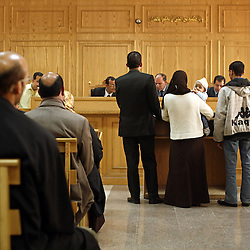 Appeals judges hear court cases at the Courthouse of New Cairo Personal Status and Family Courts in Cairo, Eqypt on March 5, 2008. Recently in the Muslim world, the reputation of Shariah law has undergone an extraordinary revival.