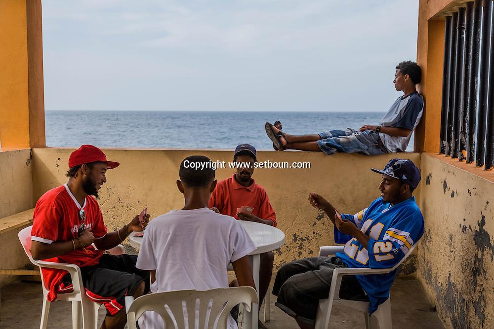 Cape Verde. Fajazinha fishermen village   Fogo island     / Cap-Vert:  Fajazinha village pecheurs  ile de Fogo    /22