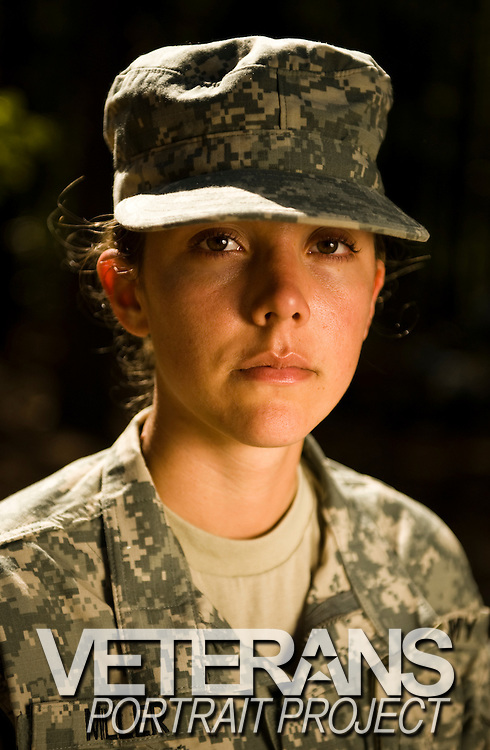 U.S. Army Private Ashley Miller stand on a training course at Fort Jackson, S.C., on October 23, 2008.