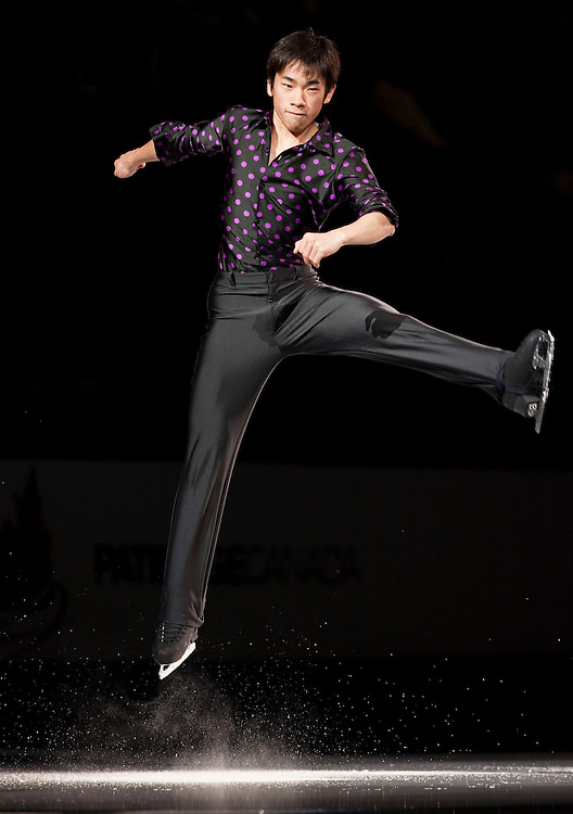 20101031 -- Kingston, Ontario -- Nobunari Oda of Japan skates in the exhibition gala at Skate Canada International in Kingston, Ontario, Canada, October 31, 2010. <br /> AFP PHOTO/Geoff Robins