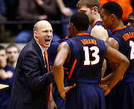 WEST LAFAYETTE, IN - JANUARY 02: Head coach John Groce of the Illinois Fighting Illini talks to his team during a timeout against the Purdue Boilermakers at Mackey Arena on January 2, 2013 in West Lafayette, Indiana. Purdue defeated Illinois 68-61. (Photo by Michael Hickey/Getty Images) *** Local Caption *** John Groce