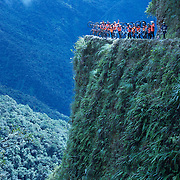 Mountain Biking on Death Road, Bolivia