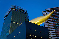 "Asahi Flame Building - Asahi Breweries Building, Asakusa, also known as ""Asahi Flame"" with reference to the golden figure on top which was actually meant to resemble a flame, rather than a drop of beer."