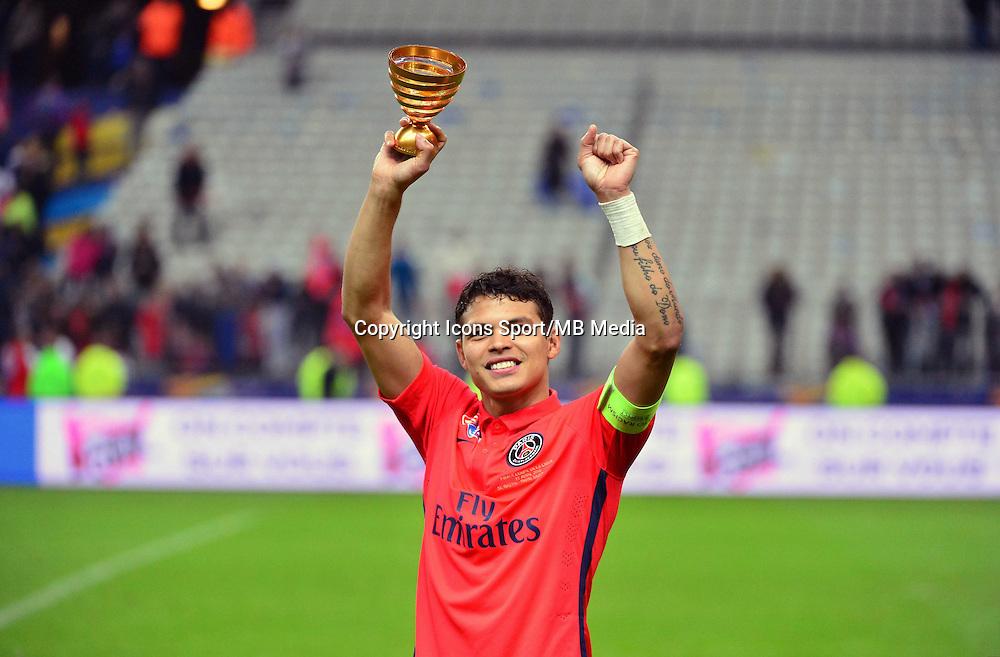 Victoire du PSG / Thiago SILVA   - 11.04.2015 -  Bastia / PSG - Finale de la Coupe de la Ligue 2015<br />Photo : Dave Winter / Icon Sport