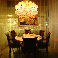 BEIJING, JANUARY-19: a private dinner table  at the LAN Club, the latest addition to Beijing's high-end venues, January 19, 2007...The LAN was designed by Phillipe Starck and spans 6000 square metres.