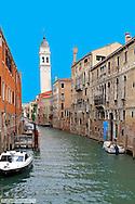 Canal, Rio del Vin, Stadtteil San Marco, Venedig, Italien