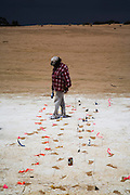 Pleistocene human footprints: Willandra Lakes in southeastern Australia.. Junette Mitchell who is part of the three traditional tribal groups that are part of the ownership of the land working with the human prints found that optical simulated luminescence dating estimates are that they are 19-23 ka old...