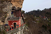 Asia, China, Hubei province.  Nanyan Temple on Wudang moutain (Wudang-san), a World Heritage mountain with many Taoist monasteries.