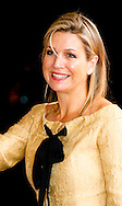 15-5-2015 - HUIZEN - Queen Maxima attended a Thursday afternoon May 15th jubilee concert in honor of the 15th anniversary of the Music Foundation House. The concert took place in residential care homes and in the Bolder was given by piano duo Daniel Wayenberg (84) and Martin Oei (18). COPYRIGHT ROBIN UTRECHT