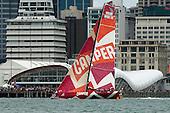 VOR Auckland in port race.