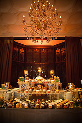 dessert table at a wedding reception
