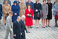 2-12-2014 - PARIS - Queen Silvia and King Carl Gustaf of Sweden meet president Hollande during a 3 day state visit to France . COPYRIGHT ROBIN UTRECHT
