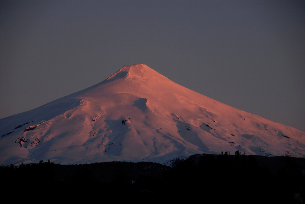 Villarica volcano viewed from Pucon, Chile