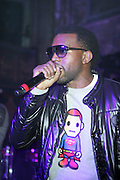 Kanye West at the ' Locals Only ' Underground Event Series sponsored by NBCNY.com featuring Common held at The Angel Orensanz Foundation for Art on the Lower East side on Mahanttan on December 11, 2008..