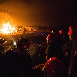 Stage incendie au Fort de Domont de JSP et SPV du SDIS Marne. Travail de d&eacute;sincarc&eacute;ration et r&eacute;alisation de br&ucirc;lages contr&ocirc;l&eacute;s &agrave; divers niveaux &agrave; des fins de formation aux techniques d'extinction.  <br /> Mai 2016 / Domont (95) / FRANCE<br /> Voir le reportage complet (97 photos)<br /> http://sandrachenugodefroy.photoshelter.com/gallery/2016-05-Stage-SDIS-Marne-a-Domont-Complet/G0000.JViGkvl6zE/C0000yuz5WpdBLSQ