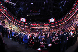Montreal, Quebec, CAN - November 17, 2012: Atmosphere shot before the bout between UFC Welterweight Champion Georges St. Pierre and Interim UFC Welterweight Champion Carlos Condit at UFC 154 at the Bell Centre in Montreal, Quebec, Canada. St. Pierre won via unanimous decision.