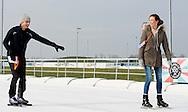 BIDDINGHUIZEN - Prinses Marilene (L) en prins Maurits tijdens de tweede editie van De Hollandse 100 op FlevOnice, een sportief evenement van fonds Lymph en Co ter ondersteuning van onderzoek naar lymfeklierkanker.  COPYRIGHT ROBIN UTRECHT <br /> BIDDINGHUIZEN -  During the second edition of the Dutch 100 on FlevOnice, a sporting event fund Lymph and Co. to support research into lymphoma. COPYRIGHT ROBIN UTRECHT