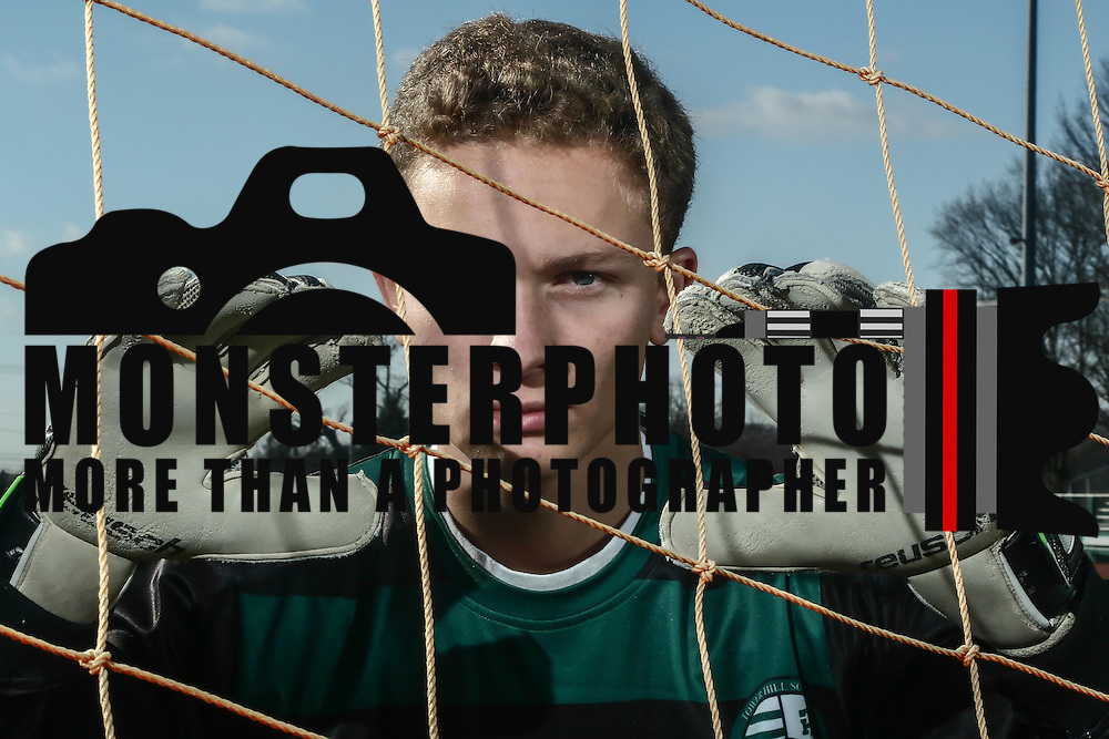 Tower Hill Goal Keeper Bo Anderson (0) poses for a photo Thursday, Dec. 01, 2016, at Tower Hill in Wilmington.