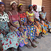 "9 December 2009, Banikoara, Benin. Community Health Clinic ""Comparou Maternité."" The clinic delivers a wide variety of services including delivering of babies and ante-natal checkups. The mothers-to-be are given an ante-natal package of folic acid, mosquito nets and malaria prophylactics. If there is an emergency, an ambulance can take them to the main hospital."