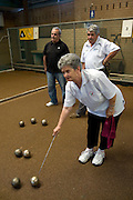 In back - Tony Gizzarone, Tony Parisse with Antoinette Parisse in foreground - Bocce The Italian Club
