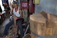 barrel maker in Kampung Kuli