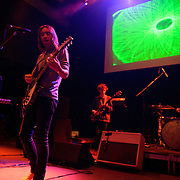 """WASHINGTON, DC - February 14th  2013 - Dominic Simper, Kevin Parker, Nick Allbrook and Julien Barbagallo of Tame Impala perform at the 9:30 Club in Washington, D.C.  The band's sophomore album, """"Lonerism,"""" was released in October of 2012 and won numerous album of the year awards across the globe, including NME, Rolling Stone and Australia's Triple J radio. (Photo by Kyle Gustafson/For The Washington Post)"""