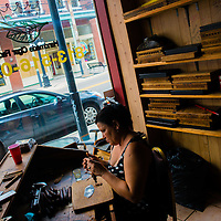 TAMPA, FL -- July 2012 -- Handmade cigars are rolled at Ybor Cigars Plus in Ybor City. (PHOTO /CHIP LITHERLAND)