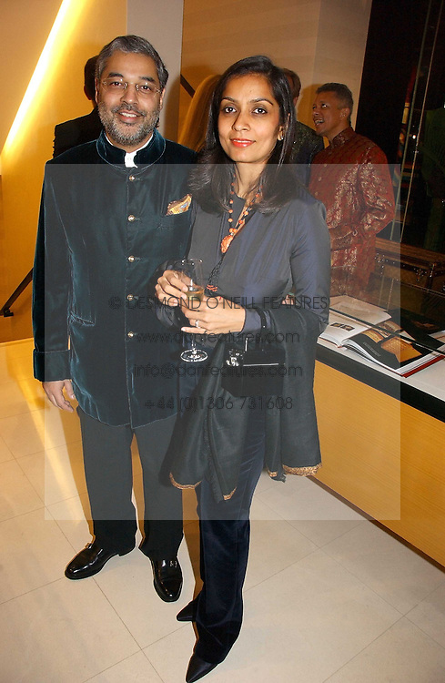 PRINCE TIKKA KAPURTHALA and AMRITA JHAVERI at a party to celebrate the publication of 'Made for Maharajas' by Dr Amin Jaffer hosted by Louis Vuitton at their store on Sloane Street, London on 10th October 2006.<br /><br />NON EXCLUSIVE - WORLD RIGHTS