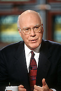 Senator Patrick Leahy on NBC's show Meet the Press March 1, 1998 in Washington, DC.