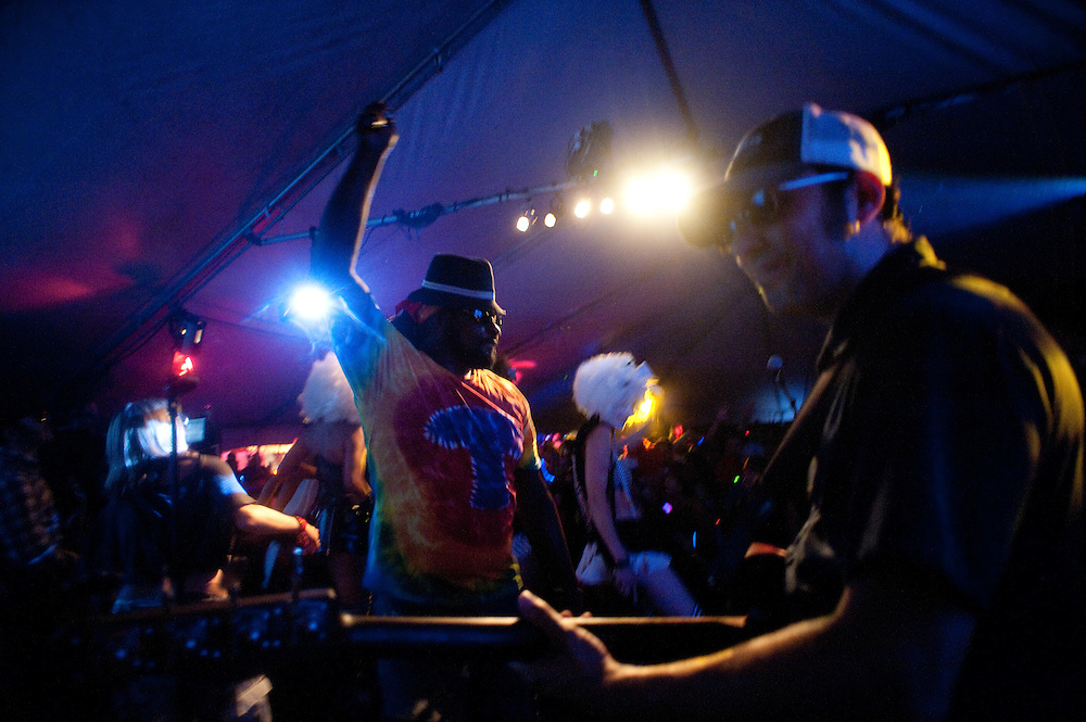 The Fort Knox Five, rock and party hard on the main stage Saturday night.