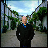 Brian Eno, musician and producer in his Notting Hill studio in West London, UK.