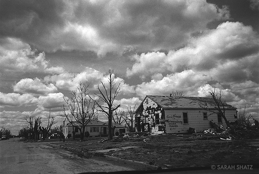 Greensburg, Kansas, after an F5 tornado