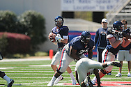 Ole Miss' Nathan Stanley (12) at Vaught-Hemingway Stadium in Oxford, Miss. on Saturday, April 2, 2011.