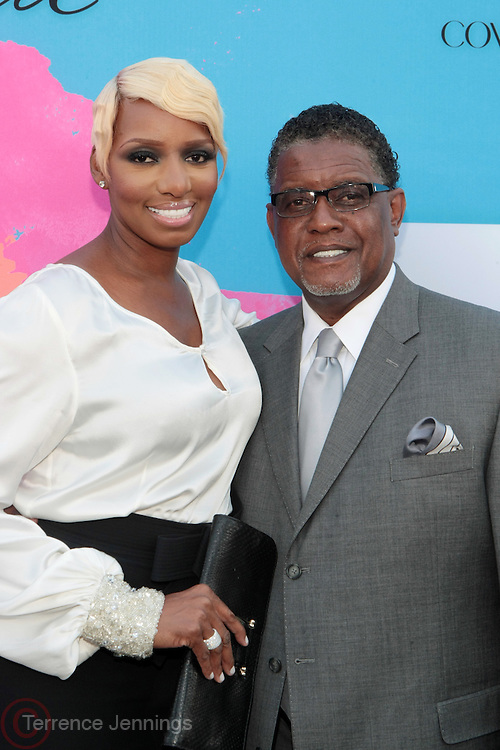 """Los Angeles, CA-June 29:  (L-R) Reality TV Personality Nene Leakes and Greg Leakes attends the Seventh Annual """" Pre """" Dinner celebrating BET Awards hosted by BET Network/CEO Debra L. Lee held at Miulk Studios on June 29, 2013 in Los Angeles, CA. © Terrence Jennings"""