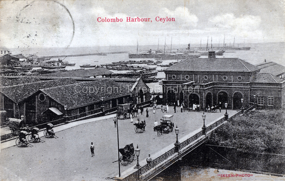 Colombo Harbour, Ceylon. by Skeen Photo.<br />