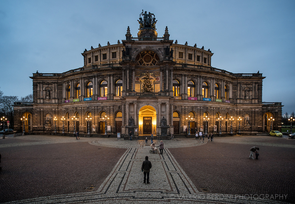 Semperoper Opera house in Dresden, Germany. Built by architect Semper in 1841, and rebuilt after a fire devastated it, in 1869.