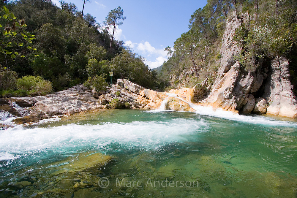 Small waterfall on the Rio Borosa, Cazorla National Park, Spain