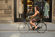 Europe,Italy, Europe, Florence, city, woman, woman on bike