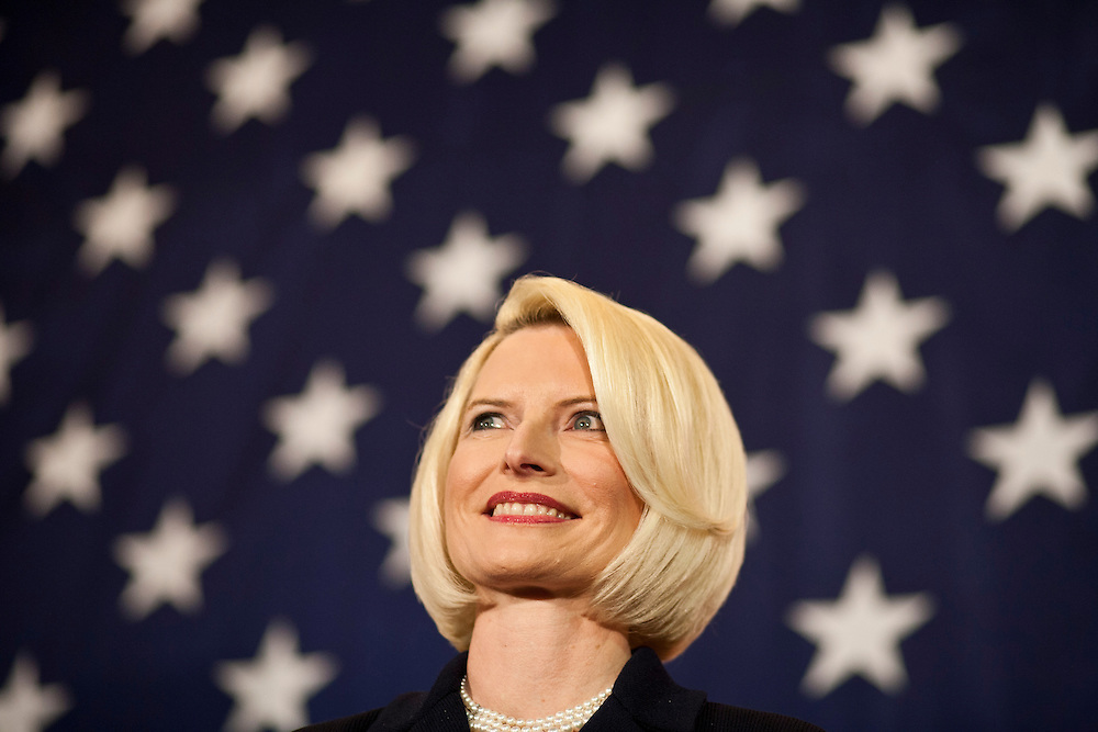 Callista Gingrich, wife of Republican presidential candidate Newt Gingrich, during a campaign rally aboard the USS Yorktown on Friday, January 20, 2012 in Charleston, SC.