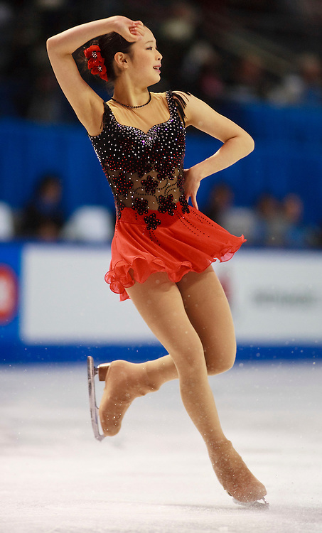 20101029- Kingston, Ontario,Canada-- Haruka Imai of Japan skates her short program at Skate Canada International in Kingston, Ontario, Canada, October 29, 2010.<br /> AFP PHOTO/Geoff Robins