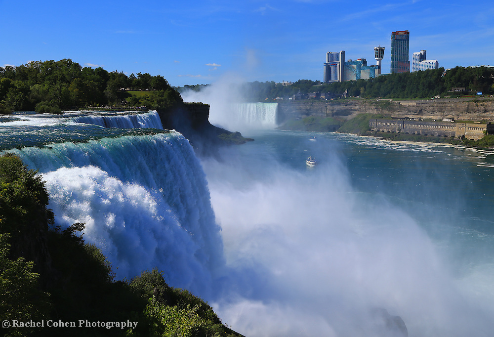 &quot;Sparkling Power of Niagara Falls&quot;<br /> <br /> A wonderful view of Niagara Falls from the American side. Powerful, sparkling and vast!!<br /> <br /> Waterfalls by Rachel Cohen
