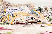 Lyon, Atelier Hermès, silk atelier at Pierre-Benite,  nella stanza dei coloristes si definiscono i colori in base al moodboard indicato dalla direzione artistica. coloristes room where all base colors are decided by the mood board from the art direction