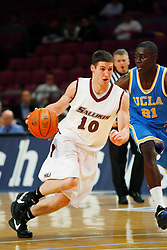 Nov 21, 2008; New York, NY, USA; Southern Illinois Salukis guard Bryan Mullins (10) drives to the basket during first half action of the 2K Sports Classic consolation game at Madison Square Garden.