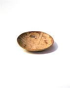 0102-1013 ~ Copyright:  George H. H. Huey ~ Santa Cruz Red-on-Buff plate with bird motif.  Hohokam culture, circa A.D. 800 [Colonial period].  Uncovered at Casa Grande Ruins National Monument, Arizona.