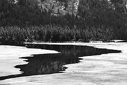 The ice recedes on Tagish Lake, Yukon