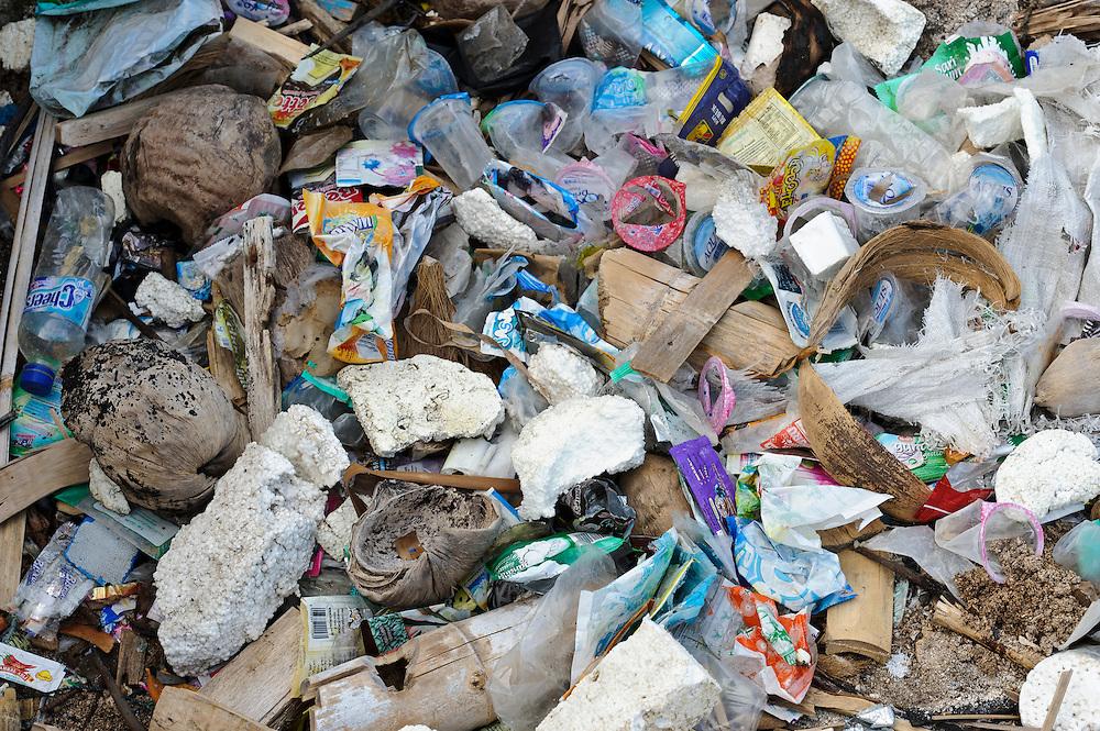 Plastic waste, Bangga, Gorontalo, Sulawesi, Indonesia.