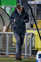 BREDA - NAC - FC Emmen , Voetbal , Jupiler League , Seizoen 2016/2017 , Rat Verlegh Stadion , 16-12-2016 , NAC trainer Marinus Dijkhuizen is teleurgesteld na aantal mislukte passes